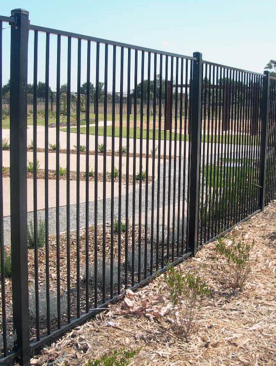 example photo of a tubular fence