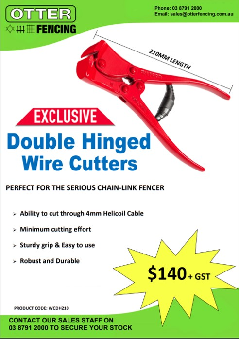 Double Hinged Wire Cutters